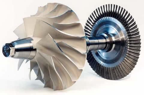 High speed turbine blower impeller